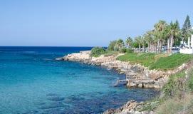 Playa en Protaras Foto de archivo libre de regalías