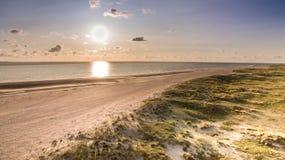 Playa en Römö en Dinamarca foto de archivo