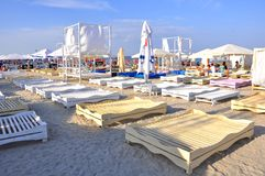 Playa en Rumania Fotografía de archivo libre de regalías