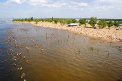 Playa en Rusia Imagen de archivo libre de regalías