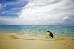 Playa en Saipán los E.E.U.U. Fotos de archivo