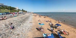 Playa en Southend en el mar Fotos de archivo