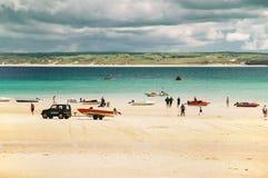 Playa en St Ives fotos de archivo libres de regalías
