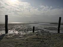 Playa en St Peter-Ording en invierno Foto de archivo