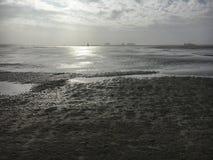 Playa en St Peter-Ording en invierno Imagenes de archivo