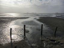 Playa en St Peter-Ording en invierno Fotos de archivo