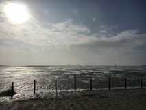Playa en St Peter-Ording en invierno Fotografía de archivo