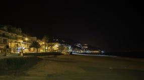 Playa en Syracuse, Sicilia foto de archivo