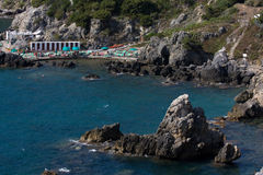 Playa en Talamone, Toscana Fotografía de archivo libre de regalías