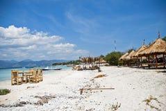Playa en Trawangan Imagen de archivo libre de regalías
