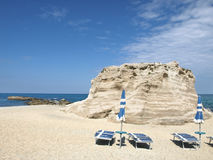Playa en Tropea Foto de archivo