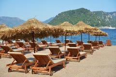 Playa en Turquía Foto de archivo