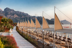 Playa en Turquía sin un resto Imagenes de archivo