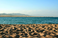 Playa en un Egipto Imagen de archivo libre de regalías