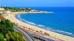 Playa en una costa en España imagen de archivo