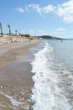 Playa en una isla griega de Kos foto de archivo libre de regalías