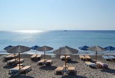 Playa en una isla griega de Kos fotos de archivo libres de regalías