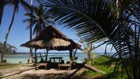 Playa en una isla tropical Filipinas, Siargao almacen de video