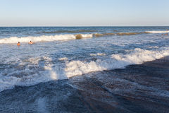 Playa en Vama Veche Foto de archivo libre de regalías