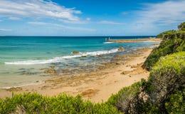 Playa en Victoria, Australia de Mallacoota, en el verano fotografía de archivo libre de regalías