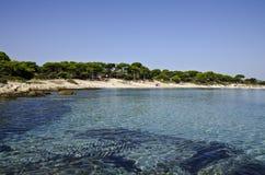 Playa en Vourvouru Grecia Fotos de archivo