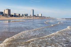 Playa en Zandvoort, Países Bajos Imagen de archivo