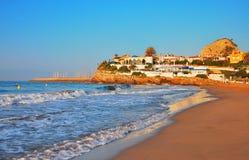 Playa encantadora en España foto de archivo libre de regalías