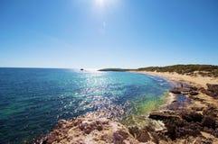 Playa escénica Imagen de archivo libre de regalías