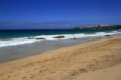 Playa escénica del EL Cotillo de la visión en Fuerteventura, Imagen de archivo