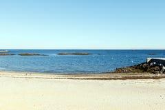 Playa escénica, Long Island Sound Imagenes de archivo