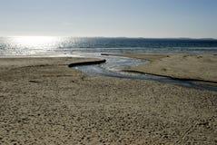 Playa escandinava de la arena Imagen de archivo