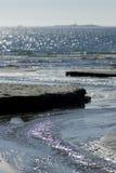 Playa escandinava de la arena Imagenes de archivo