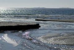 Playa escandinava de la arena Foto de archivo libre de regalías