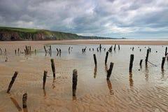 Playa escocesa durante la bajamar Foto de archivo libre de regalías
