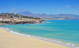 Playa Esmeralda i Fuerteventura Arkivbild