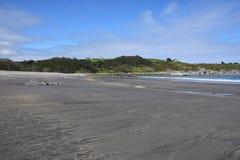 Playa España con marea baja de Navia Fotografía de archivo libre de regalías
