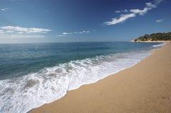 Playa española en verano Fotos de archivo libres de regalías
