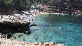 Playa especial en la isla Imagen de archivo libre de regalías
