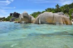 Playa exótica Imágenes de archivo libres de regalías