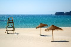 Playa exótica, asoleada Imagen de archivo