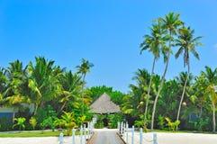 Playa exótica de lujo Fotos de archivo libres de regalías