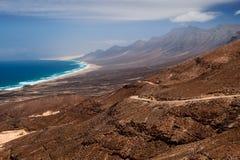 playa för cofetede fuerteventura arkivfoton