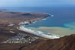 Playa Famara Photos libres de droits