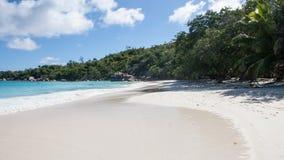 Playa famosa de Anse Lazio en Praslin Seychelles Imágenes de archivo libres de regalías