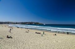 Playa famosa de Sydneys: Playa de Bondi Foto de archivo libre de regalías
