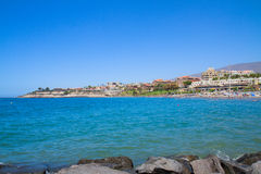 Playa Fanabe, Tenerife, Spain Royalty Free Stock Photos