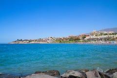 Playa Fanabe, Tenerife, Spanien royaltyfria foton