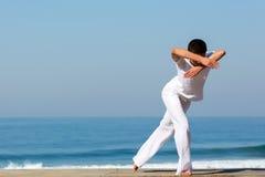 Playa femenina del bailarín imagen de archivo libre de regalías