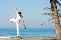 Playa femenina del bailarín Fotografía de archivo libre de regalías