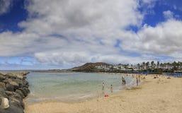 Playa flamingo i Lanzarote Royaltyfri Fotografi